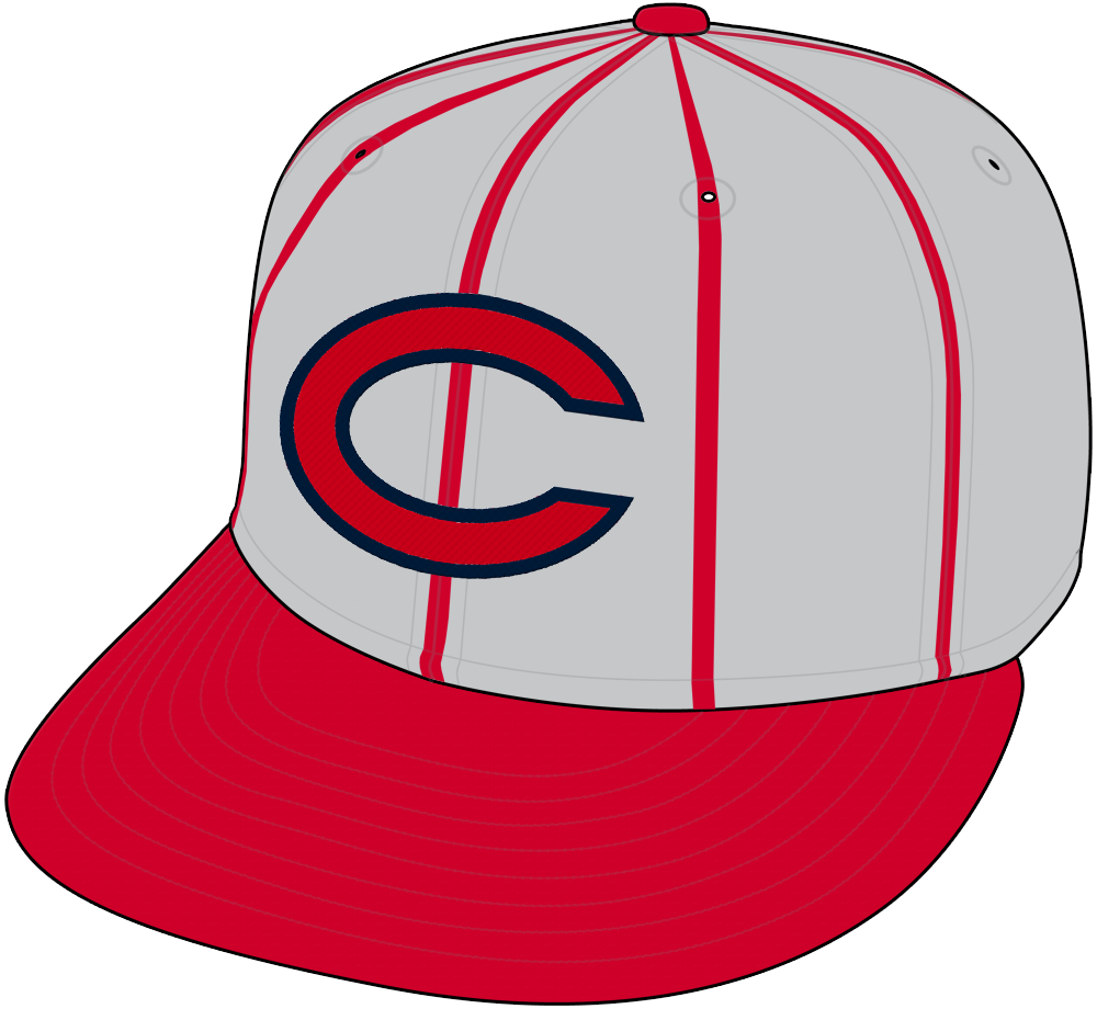Cincinnati Reds Cap Cap (1961-1966) - Cincinnati Reds road cap from 1961 through 1966, grey crown with red pinstripes, red C with blue trim and red visor. SportsLogos.Net