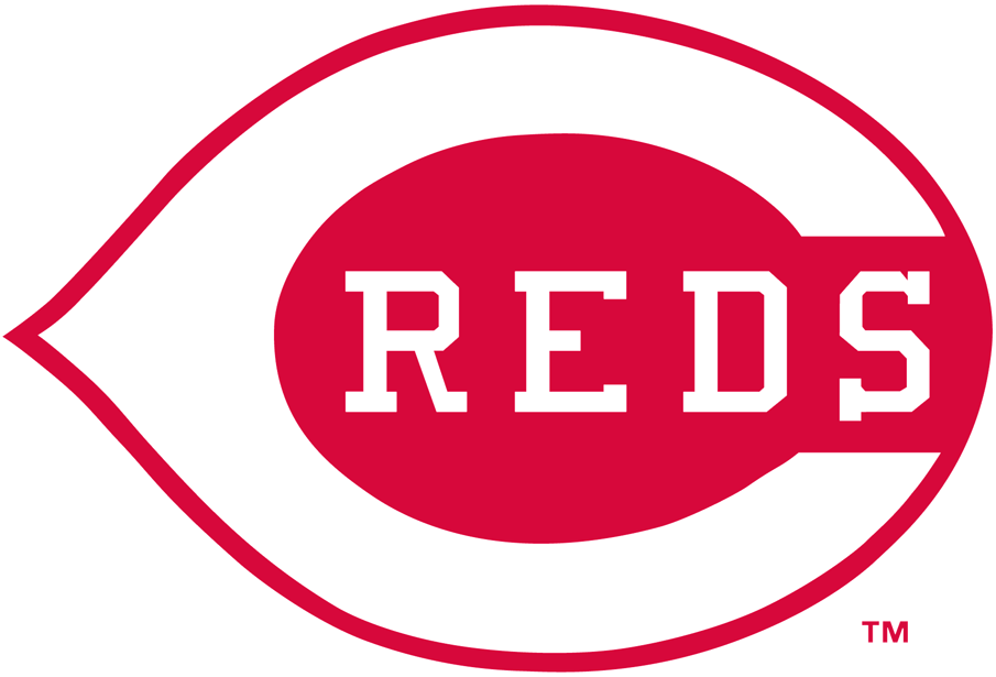 Cincinnati Reds Logo Primary Logo (1993-1998) - Reds and C in white with a thick red outline SportsLogos.Net