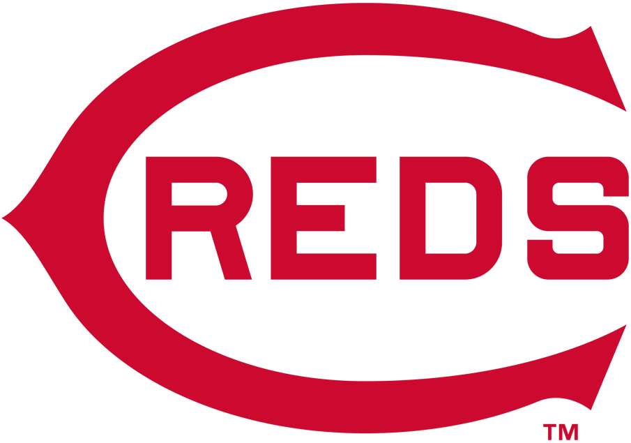 Cincinnati Reds Logo Primary Logo (1913) - A red wishbone 'C' with 'REDS' written inside it in red SportsLogos.Net