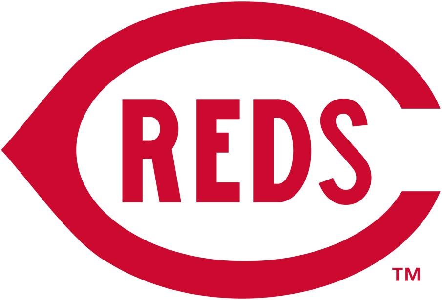 Cincinnati Reds Logo Primary Logo (1915-1919) - A red wishbone 'C' with 'REDS' written inside it in red SportsLogos.Net