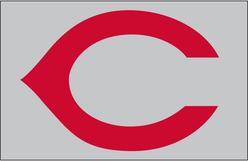 Cincinnati Reds Logo Cap Logo (1957-1960) - Cincinnati Reds cap logo worn on the road from 1957 through 1960 SportsLogos.Net
