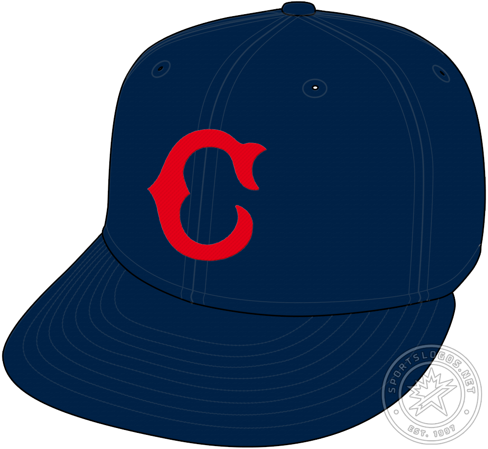 Cincinnati Reds Cap Cap (1926-1929) - In 1926, following a dozen years of wearing a white crowned cap, the Cincinnati Reds go back to wearing blue as they did in the early 1910s. The cap is navy blue with a red Tuscan-style C on the front of the crown. SportsLogos.Net