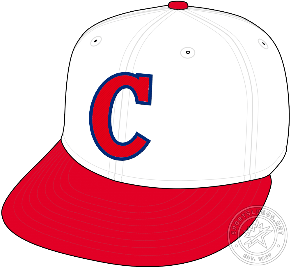 Cincinnati Reds Cap Cap (1932-1933) - The Cincinnati Reds kept the white crown and red visor on their cap design for 1932 but changed the logo on the front, now a serifed C in red with blue trim. The Reds would wear this style for just two seasons before they would change the logo once again in 1934. SportsLogos.Net