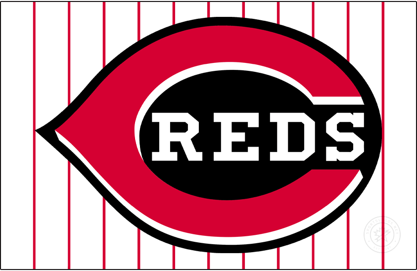 Cincinnati Reds Logo Jersey Logo (1999-2006) - Starting with the 1999 season, the Cincinnati Reds embraced the colour black in their uniforms. The home jersey featured this red wishbone-style C on a black field with REDS written inside in white. This was worn on a white jersey with red pinstripes until the end of 2006.  SportsLogos.Net