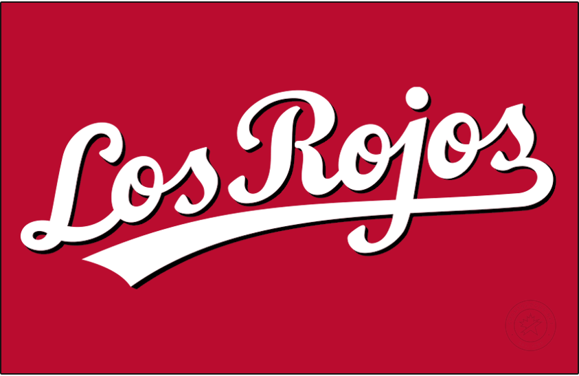 Cincinnati Reds Logo Jersey Logo (2013-Pres) - As part of a tribute to the local Hispanic population, the Cincinnati Reds introduced this new Los Rojos jersey to be worn ocassionally throughout the season as an alternate uniform beginning with the 2013 season. SportsLogos.Net