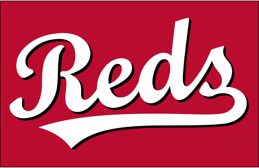 Cincinnati Reds Logo Jersey Logo (2020-Pres) - For the 2020 season, the Cincinnati Reds introduced a new alternate jersey featuring their popular Reds scripted wordmark in white with black dropshadow previously worn on their batting practice jersey. SportsLogos.Net