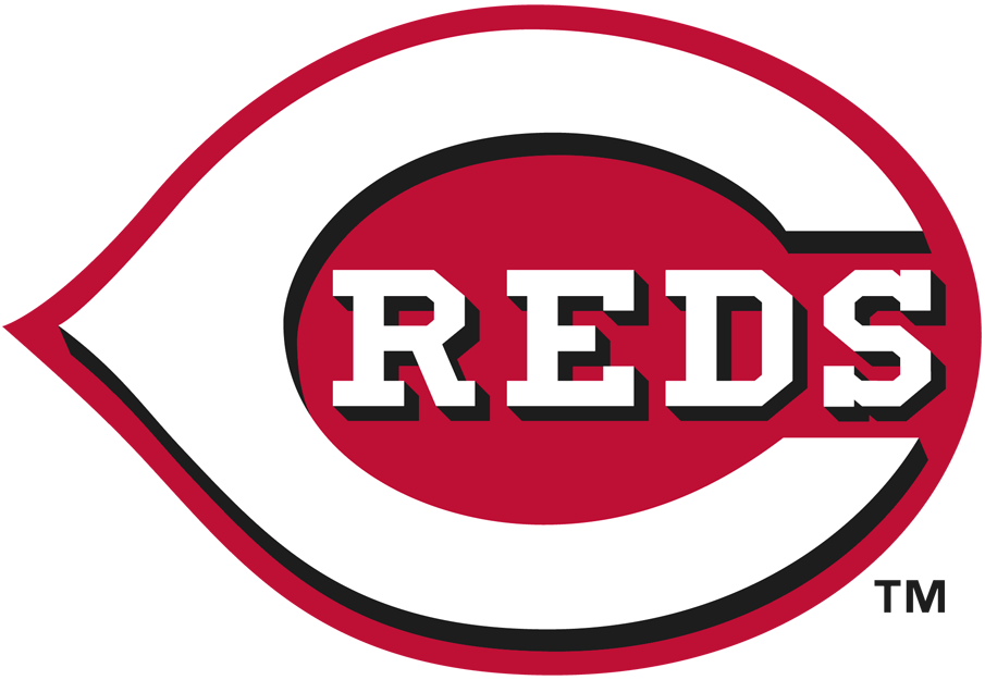 Cincinnati Reds Logo Primary Logo (2013-Pres) - Reds and C in white with black shadow in thick red outline SportsLogos.Net