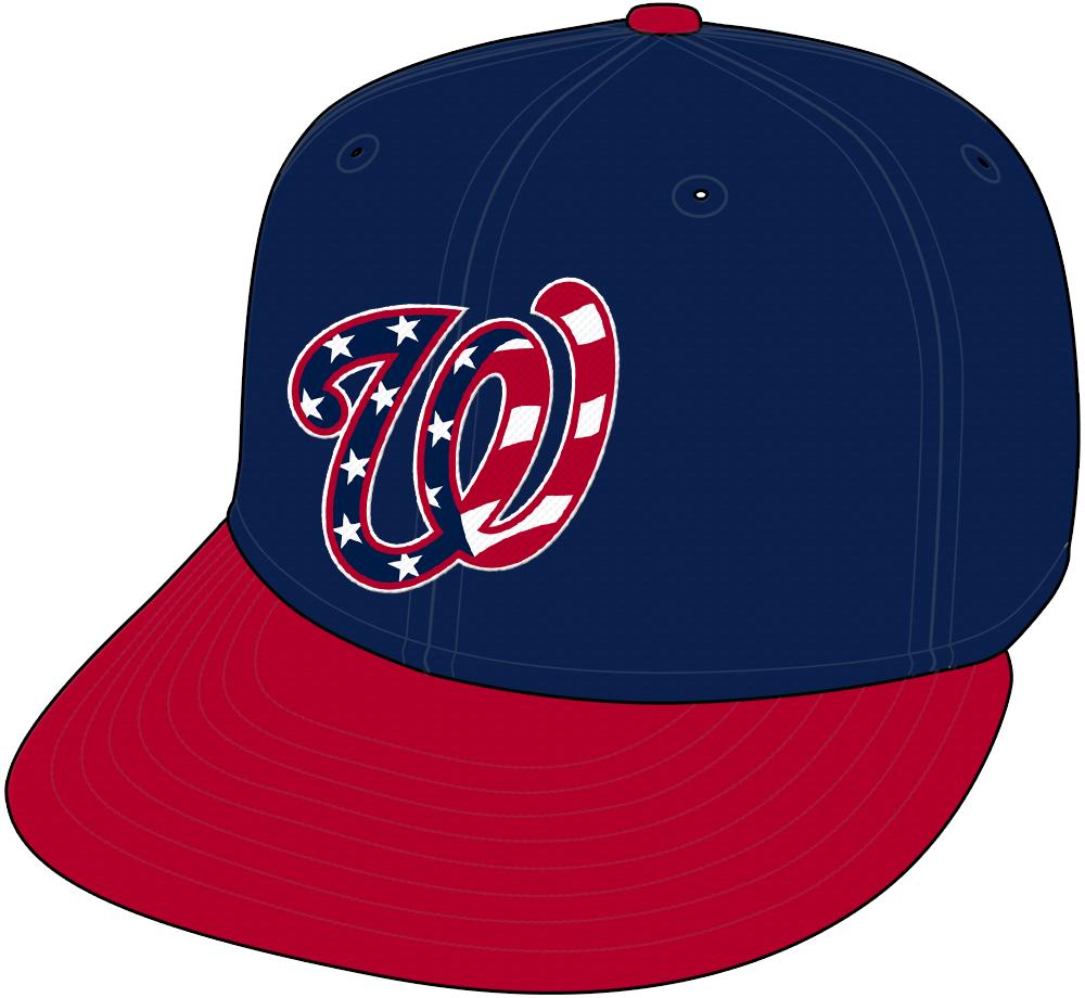 Washington Nationals Cap Cap (2016-2019) - Washington Nationals navy blue patriotic USA cap SportsLogos.Net