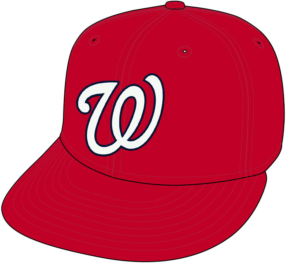 Washington Nationals Cap Cap (2005-Pres) - Washington Nationals home cap, red with curly W in white SportsLogos.Net