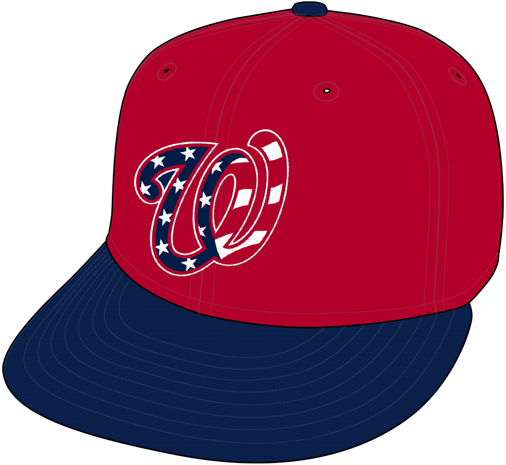 Washington Nationals Cap Cap (2016-Pres) - Washington Nationals red patriotic USA cap SportsLogos.Net