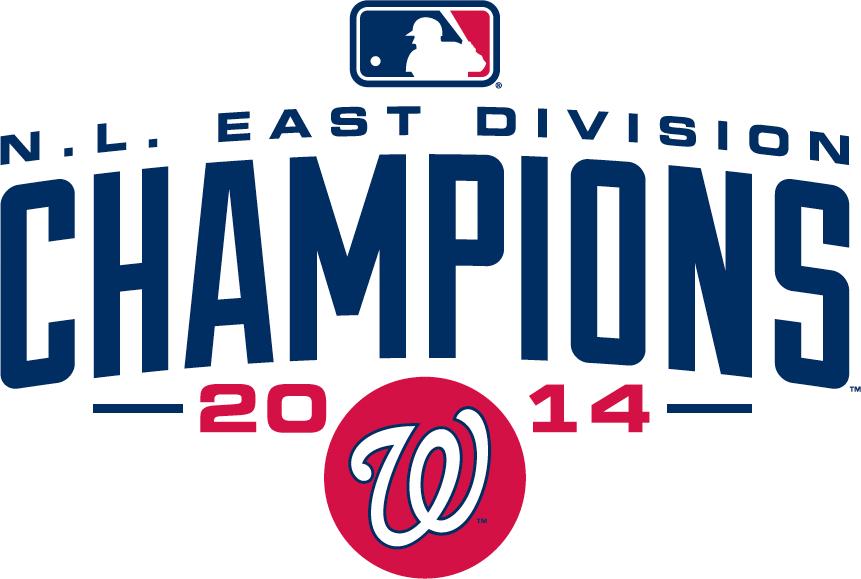 Washington Nationals Logo Champion Logo (2014) - Washington Nationals 2014 NL East Division Champions logo SportsLogos.Net