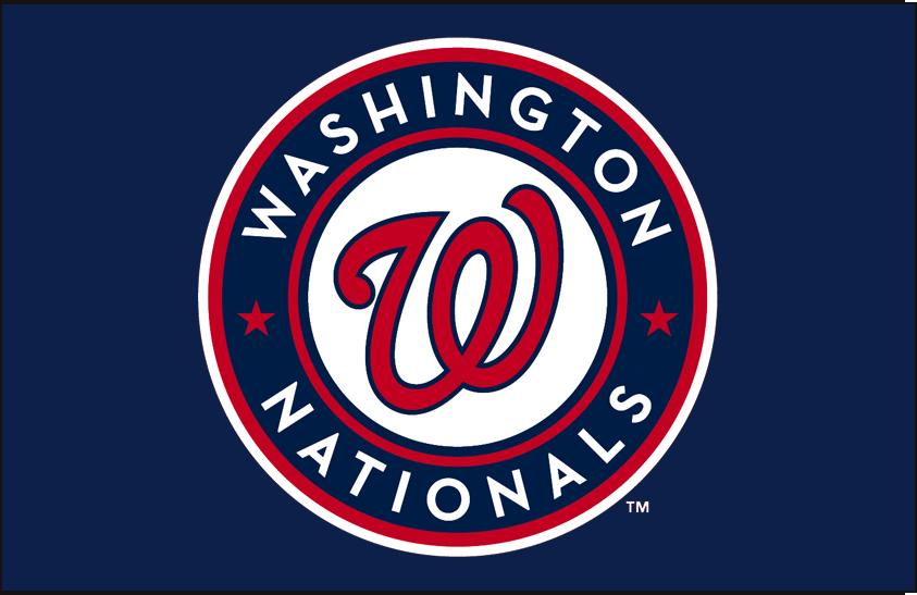 Washington Nationals Logo Primary Dark Logo (2011-Pres) - Washington Nationals primary logo on blue SportsLogos.Net