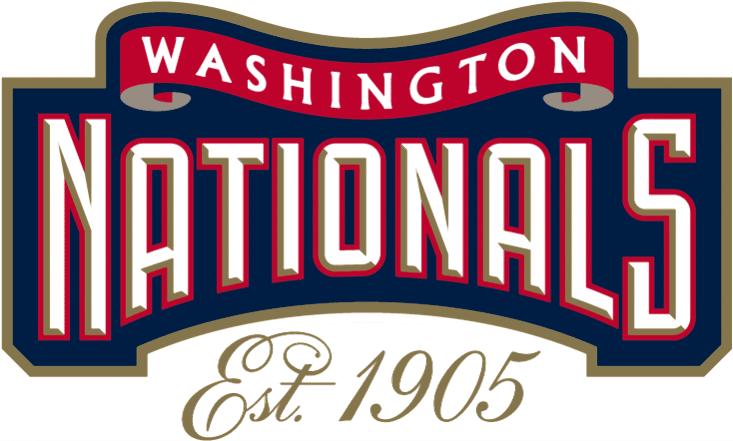 Washington Nationals Logo Misc Logo (2005-2007) - Est. 1905 in gold script underneath alternate logo SportsLogos.Net
