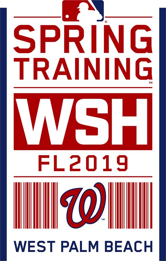 Washington Nationals Logo Event Logo (2019) - Washington Nationals 2019 Spring Training Logo SportsLogos.Net
