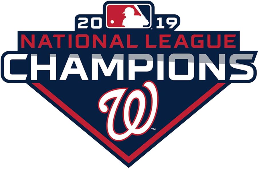 Washington Nationals Logo Champion Logo (2019) - Washington Nationals 2019 National League Champions Logo NL Champs 2019 SportsLogos.Net