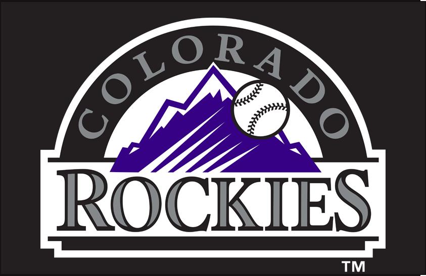 Colorado Rockies Logo Alternate Logo (2017-Pres) - Colorado Rockies alternate logo on a black background SportsLogos.Net