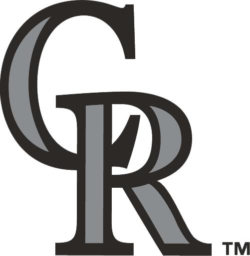 Colorado Rockies Logo Alternate Logo (1993-2016) - Interlocking CR in black with silver accents SportsLogos.Net