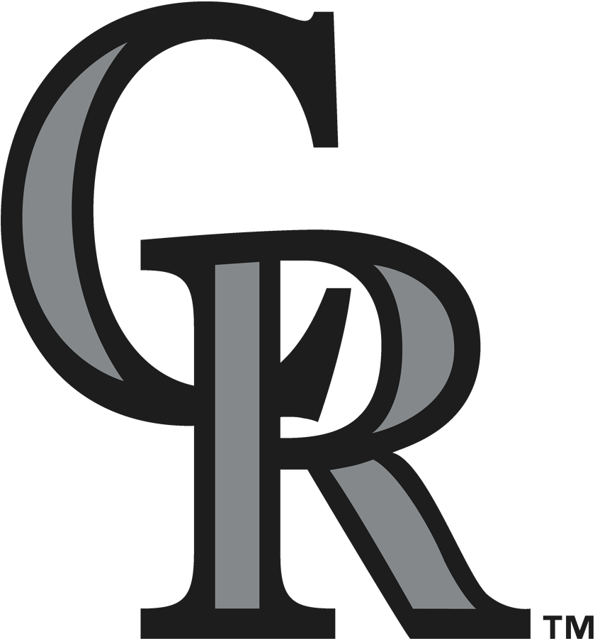 Colorado Rockies Logo Primary Logo (2017-Pres) - Silver and black interlocked CR, was previously used as the alternate logo from 1993-2016 before being promoted to primary logo in 2017 SportsLogos.Net