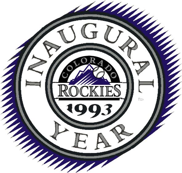 Colorado Rockies Logo Anniversary Logo (1993) - Colorado Rockies Inaugural Year, Inaugural Season logo. Worn on the sleeve of every jersey the Rockies wore during their 1993 season SportsLogos.Net