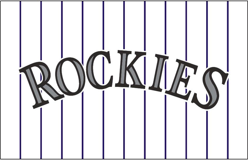 low priced b52dd 8a63b Colorado Rockies Jersey Logo - National League (NL) - Chris ...