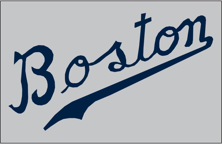 Boston Braves Logo Jersey Logo (1941-1945) - Road SportsLogos.Net