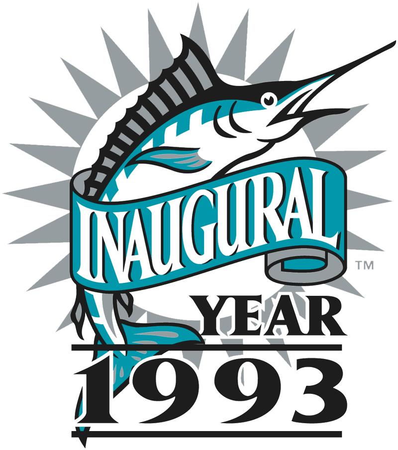 Florida Marlins Logo Anniversary Logo (1993) - Florida Marlins 1993 Inaugural Season logo SportsLogos.Net