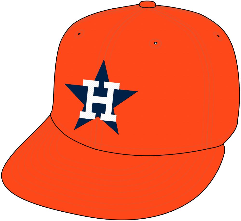 Houston Astros Cap Cap (1971-1982) - Home and Road Cap (1971-79). Home only cap (1980-82). SportsLogos.Net
