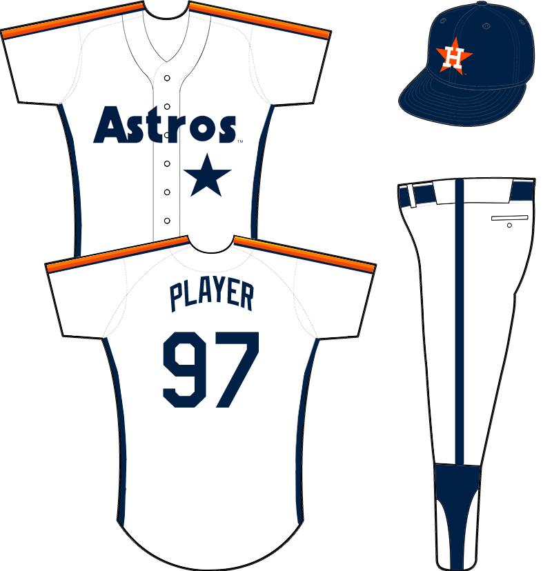 Houston Astros Uniform Home Uniform (1989-1993) -  SportsLogos.Net