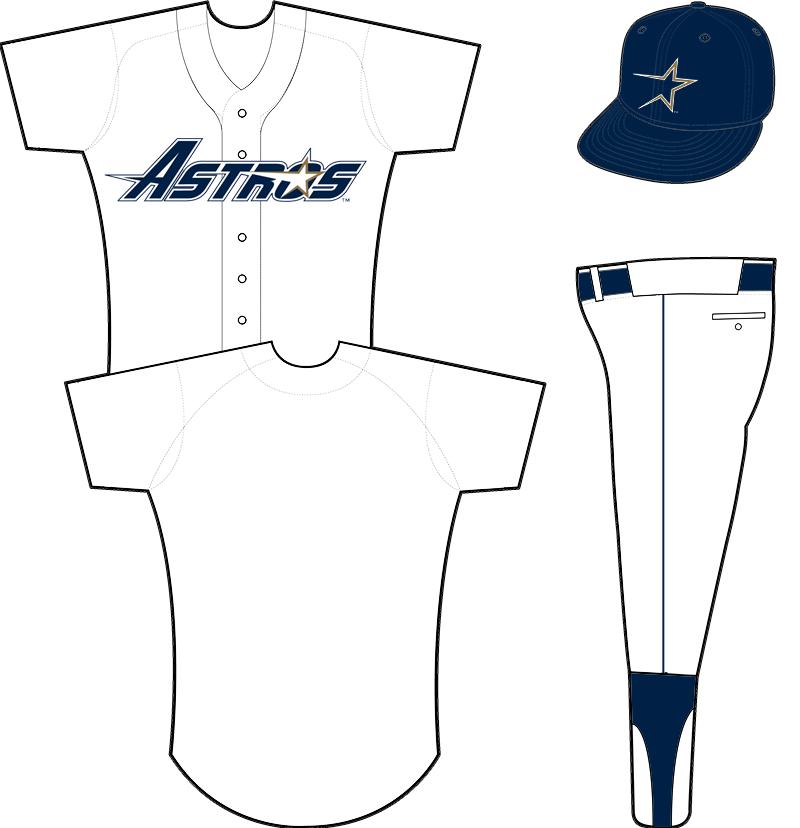 Houston Astros Uniform Home Uniform (1995-1999) -  SportsLogos.Net