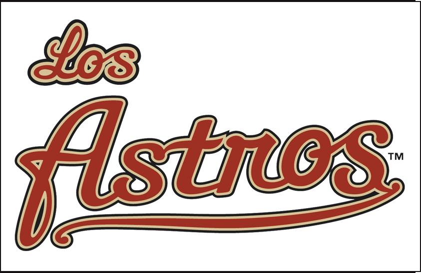 Houston Astros Logo Special Event Logo (2011-2012) - Los Astros wordmark, worn on Houston Astros Spanish Heritage jersey during the 2011 and 2012 seasons SportsLogos.Net