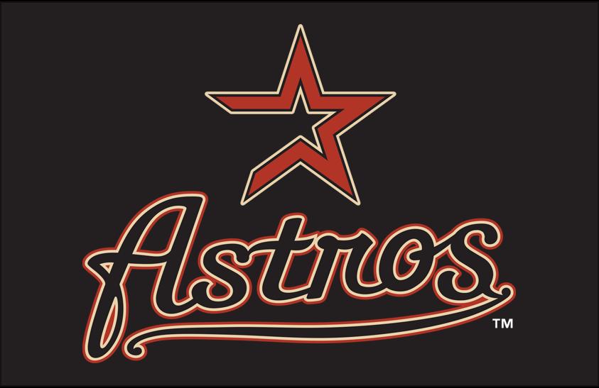 Houston Astros Logo Primary Dark Logo (2000-2012) - Houston Astros primary logo on black SportsLogos.Net
