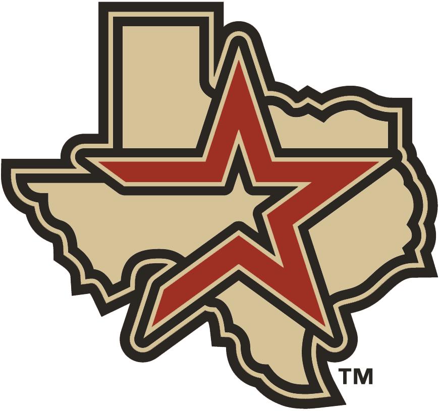 Houston Astros Logo Alternate Logo (2002-2012) - Brick star with black outline on tan Texas SportsLogos.Net