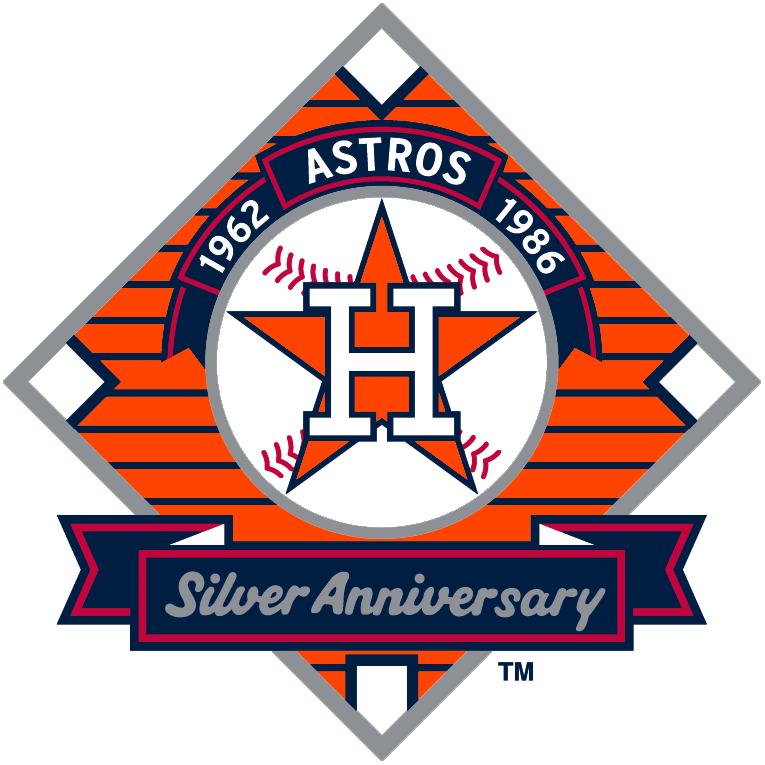 Houston Astros Logo Anniversary Logo (1986) - 25th Anniversary of Houston Franchise SportsLogos.Net
