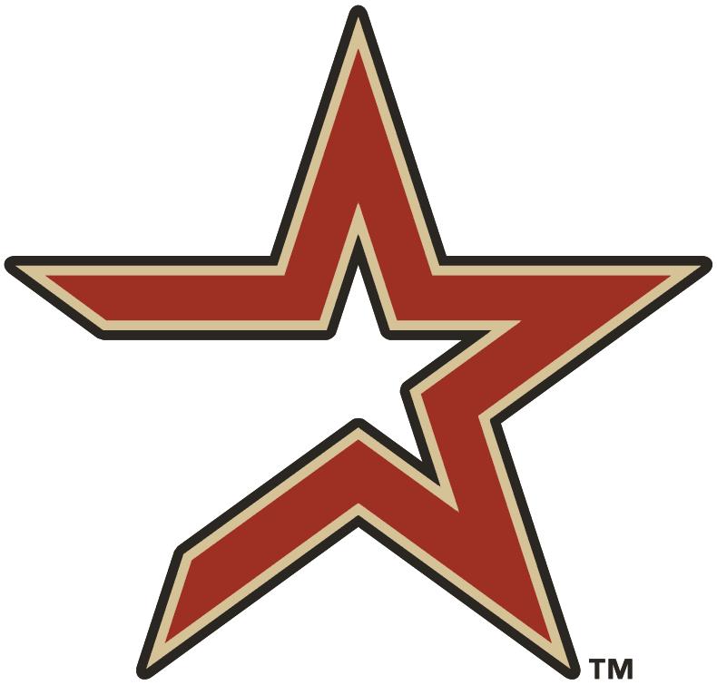 Houston Astros Logo Alternate Logo (2000-2012) - Brick star with tan and coal outline SportsLogos.Net