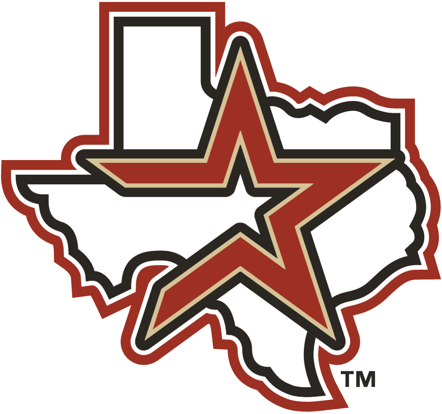 Houston Astros Logo Alternate Logo (2002-2012) - Shooting brick star with tan and coal outline across Texas SportsLogos.Net