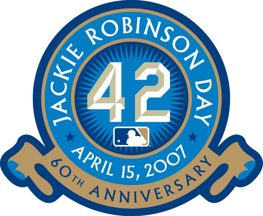 Los Angeles Dodgers Logo Anniversary Logo (2007) - Jackie Robinson Day - April 17, 2007 - 60th Anniversary logo SportsLogos.Net