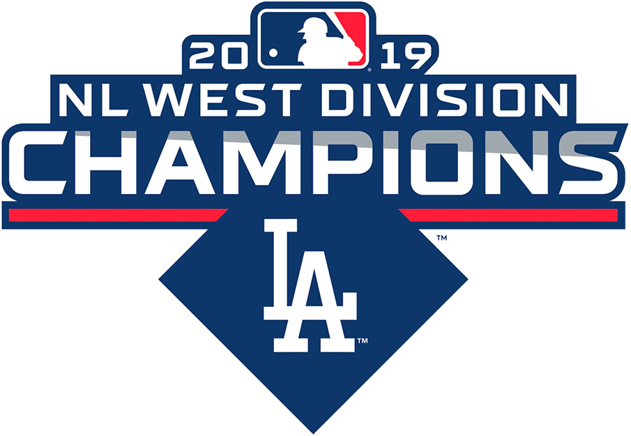 Los Angeles Dodgers Logo Champion Logo (2019) - Los Angeles Dodgers 2019 NL West Division Champions Logo SportsLogos.Net