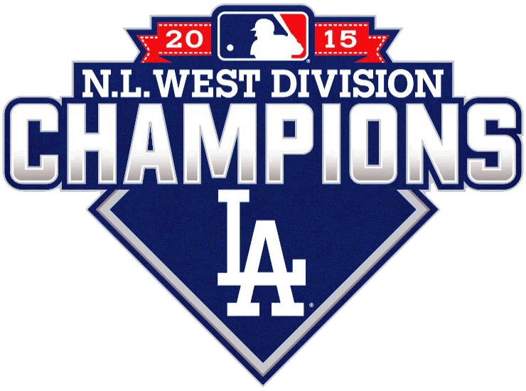 Los Angeles Dodgers Logo Champion Logo (2015) - Los Angeles Dodgers 2015 NL West Division Champions logo SportsLogos.Net