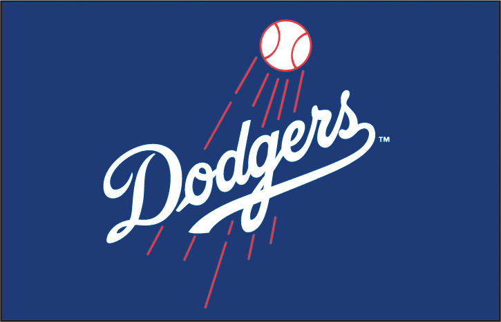 Los Angeles Dodgers Logo Primary Dark Logo (1979-2011) - Primary logo on blue background SportsLogos.Net