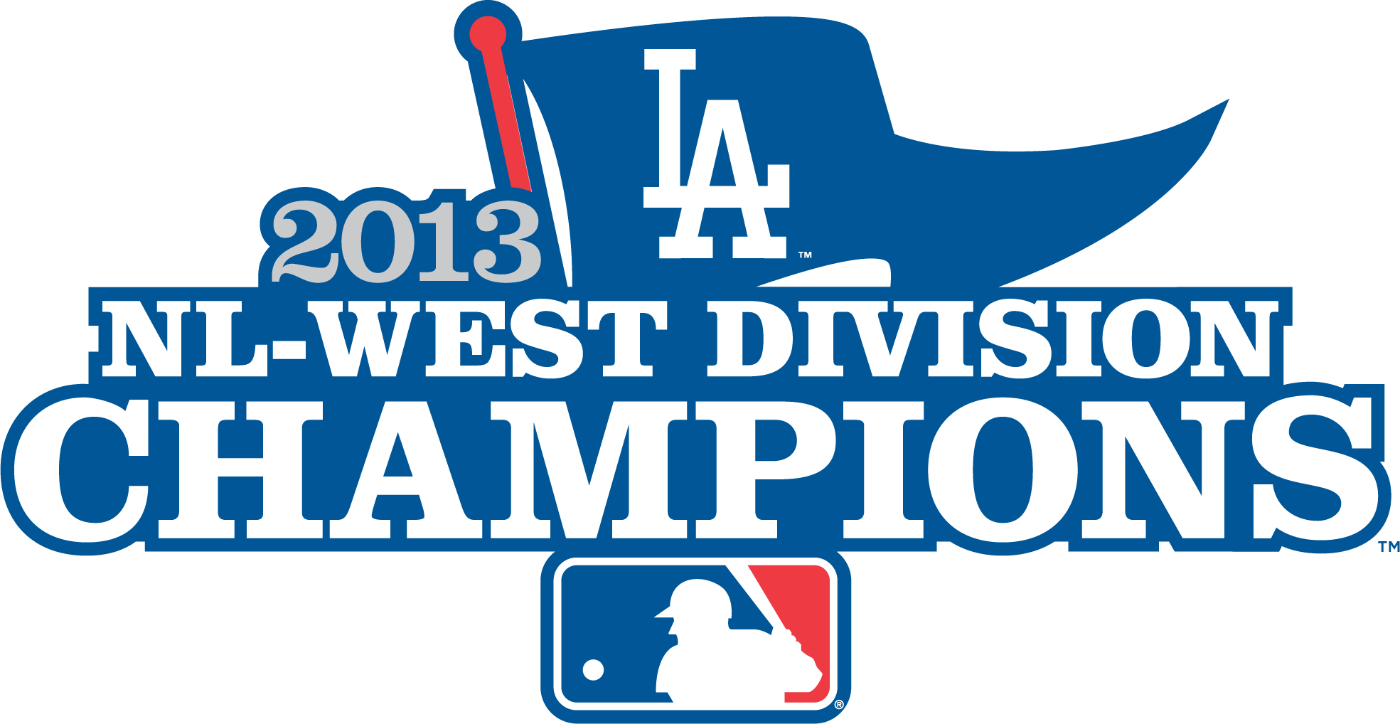 Los Angeles Dodgers Logo Champion Logo (2013) - Los Angeles Dodgers 2013 NL West Division Champions logo SportsLogos.Net