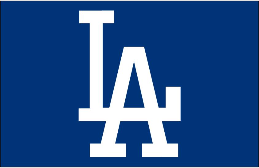 Los Angeles Dodgers Logo Cap Logo (1972-2011) - White interlocking LA on blue, shade of blue darkened for 1972 SportsLogos.Net