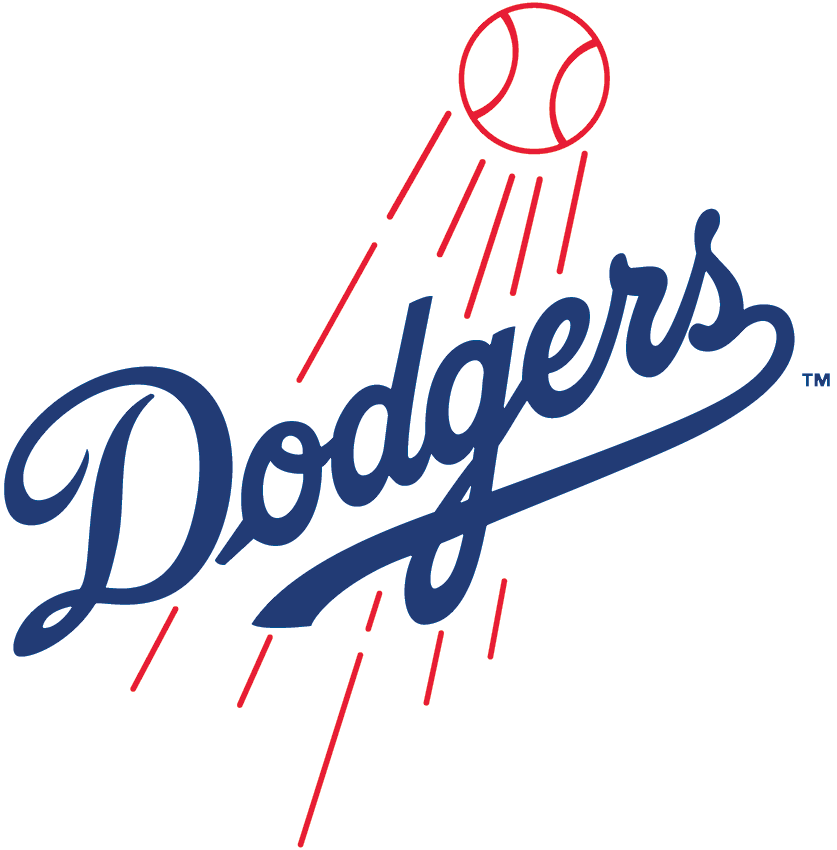 Los Angeles Dodgers Logo Primary Logo (1979-2011) - Dodgers script with shooting baseball SportsLogos.Net