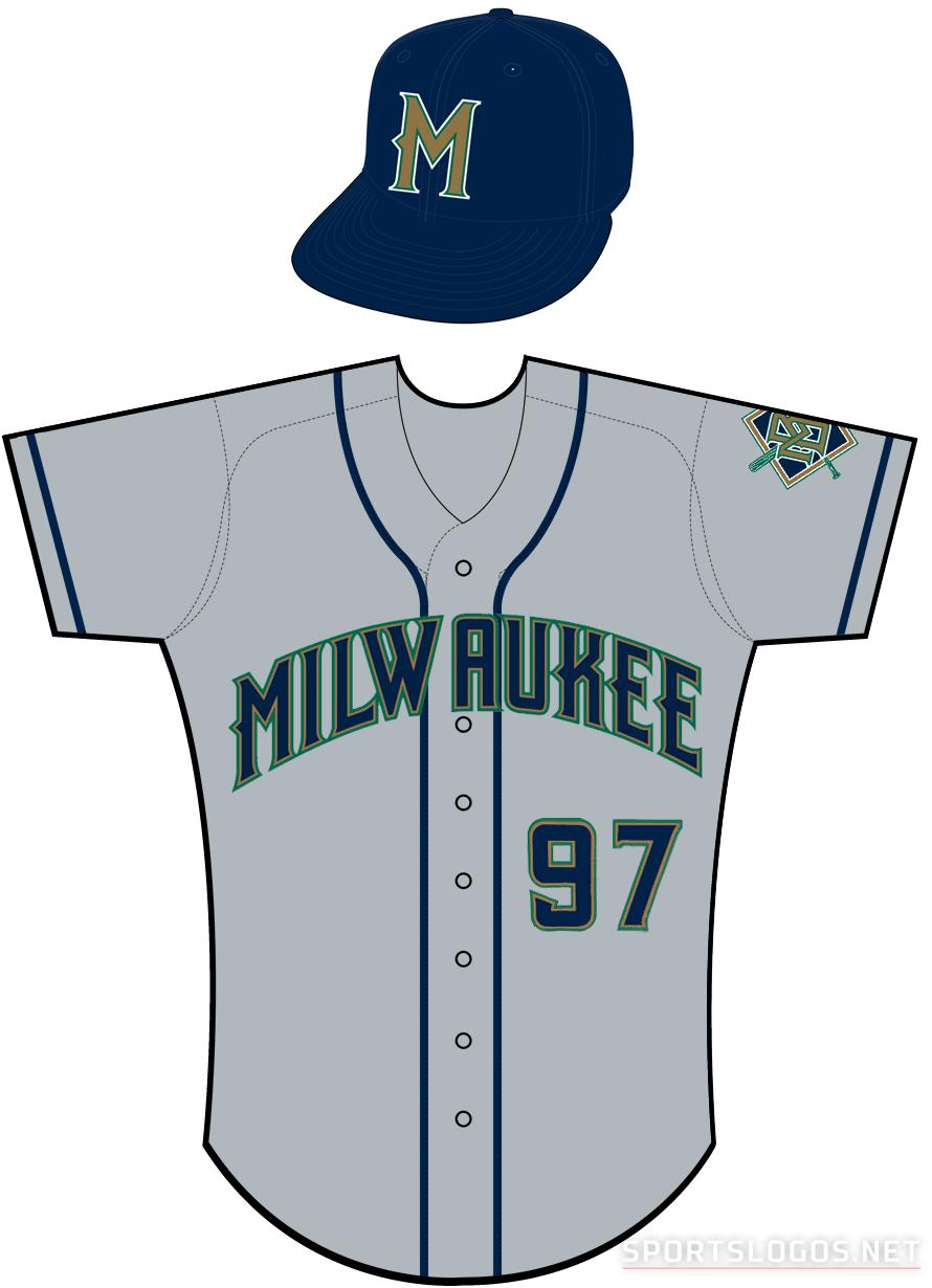 Milwaukee Brewers Uniform Road Uniform (1998-1999) -  SportsLogos.Net