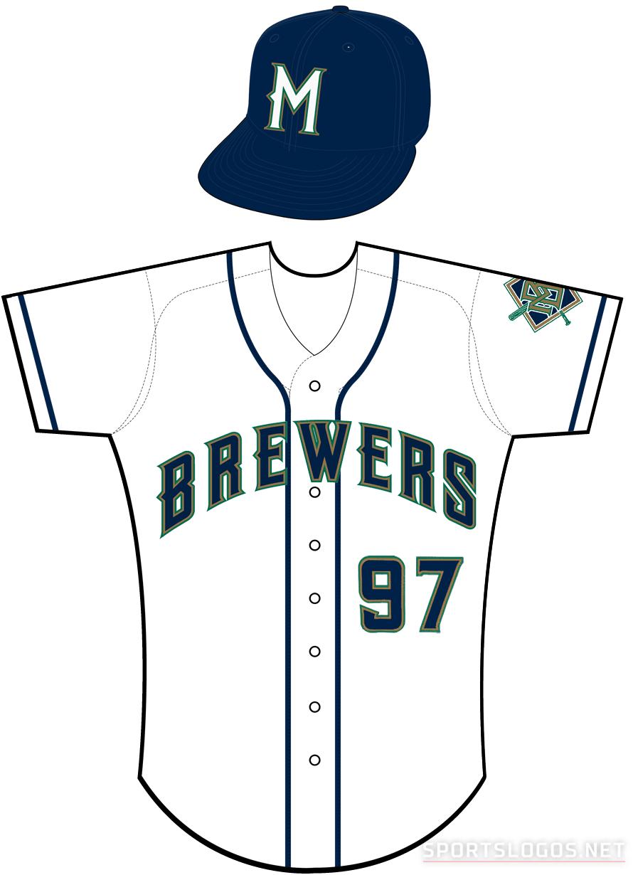 Milwaukee Brewers Uniform Home Uniform (1998-1999) -  SportsLogos.Net