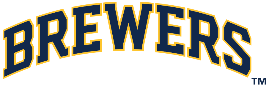Milwaukee Brewers Logo Wordmark Logo (2020-Pres) - BREWERS arched in blue and gold SportsLogos.Net