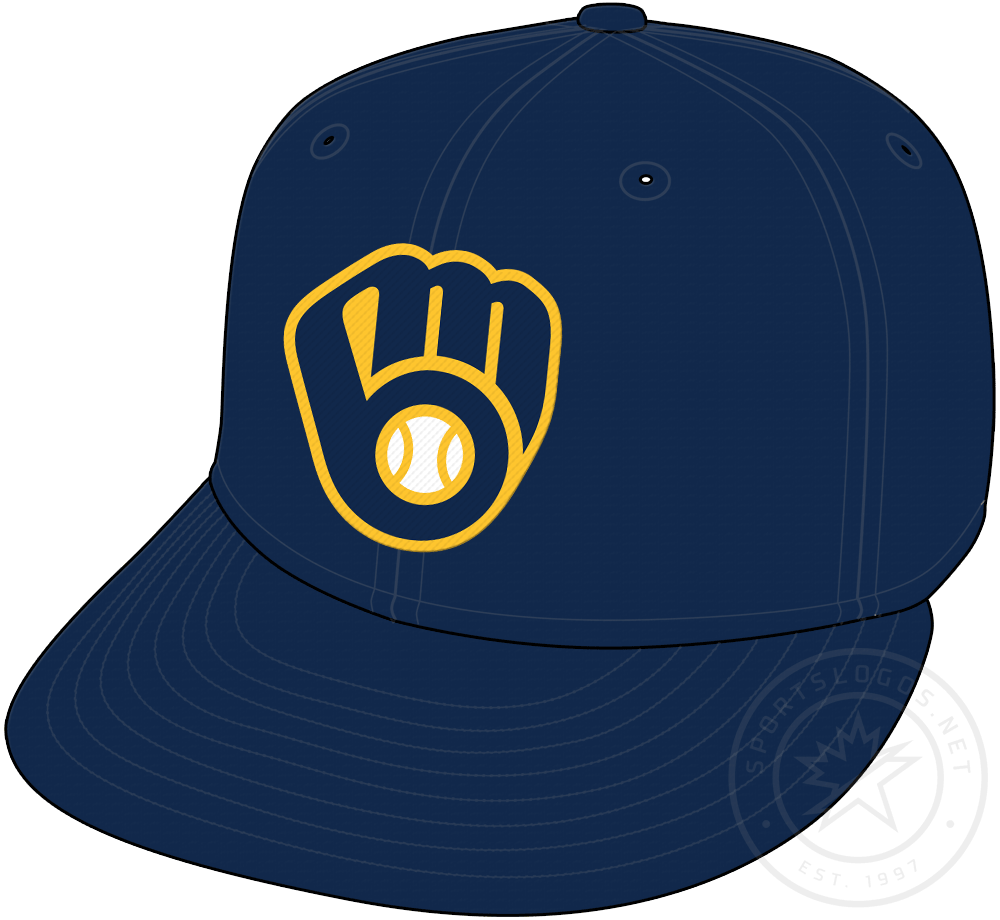 Milwaukee Brewers Cap Cap (2020-Pres) - Navy blue cap with updated ball-in-glove logo on crown, worn as primary cap for both home and road games starting in 2020 SportsLogos.Net