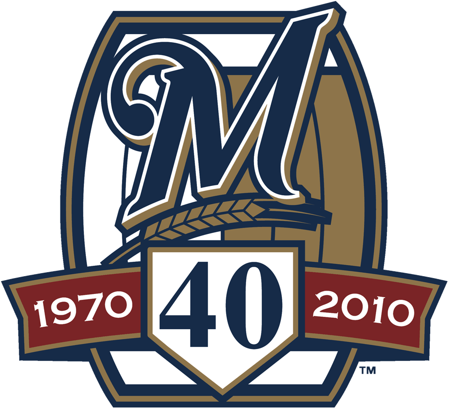 Milwaukee Brewers Logo Anniversary Logo (2010) - Milwaukee Brewers' 40th Anniversary SportsLogos.Net