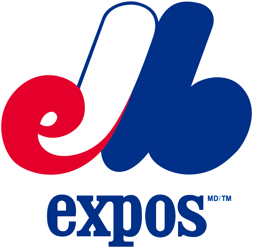 Montreal Expos Logo Primary Logo (1969-1991) - eMb in red white and blue forming a M SportsLogos.Net