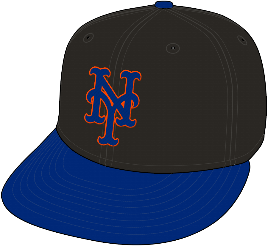 New York Mets Cap Cap (1998-2011) - Officially an alternate cap, but worn as often as a home cap for many of these seasons SportsLogos.Net