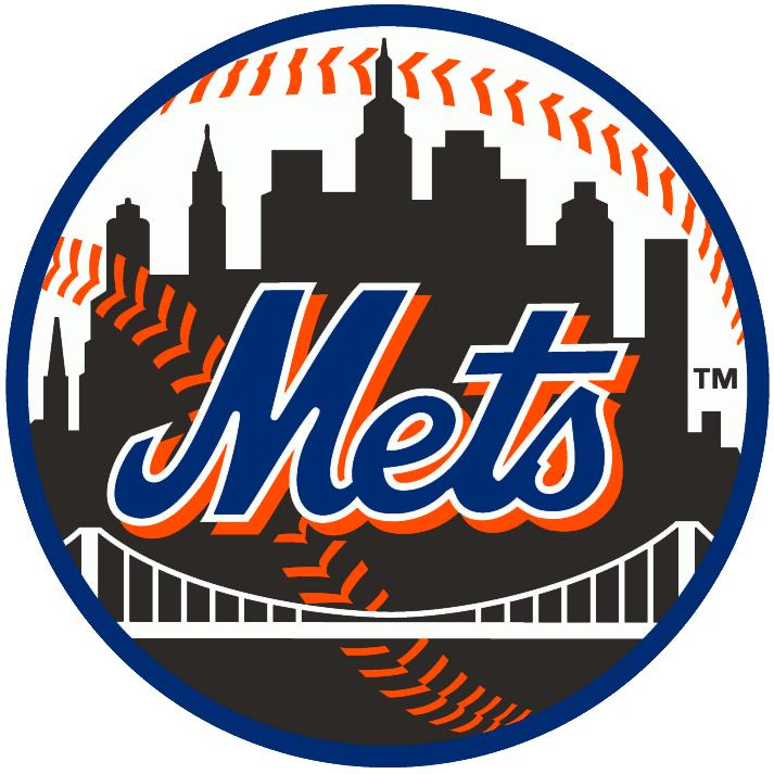 New York Mets Logo Alternate Logo (1999-2013) - Mets skyline logo in Black SportsLogos.Net